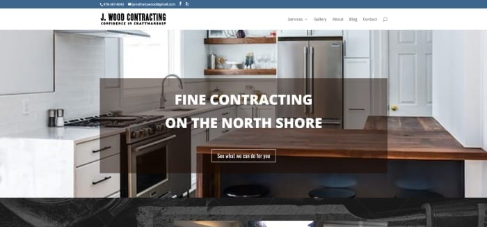 J Wood Contracting Web Site